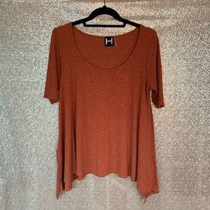 Burnt Orange Hi-Low Top